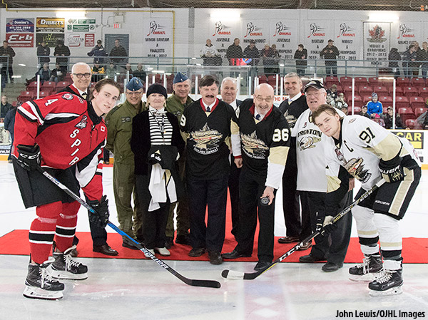 Trenton Golden Hawks Military Night (Photo: John Lewis/OJHL Images)